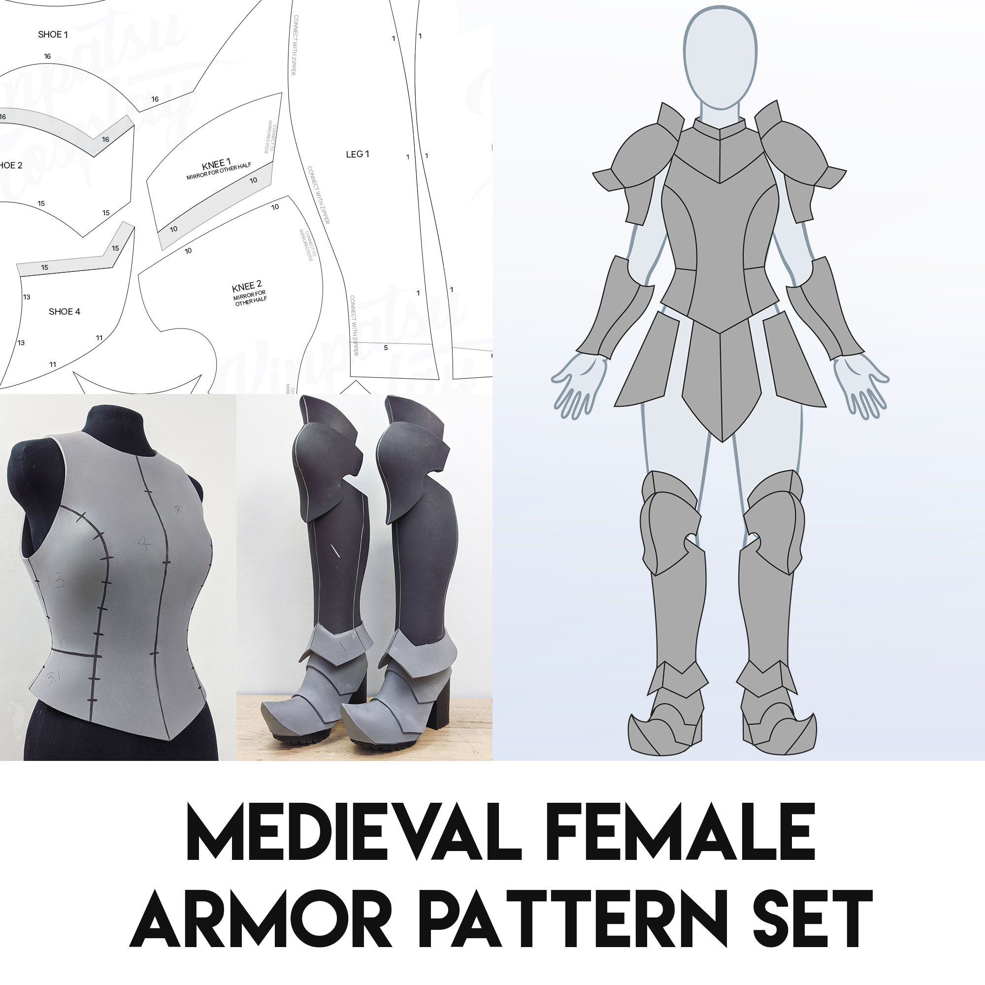 Medieval Cosplay Armor Patterns | Kinpatsu Cosplay